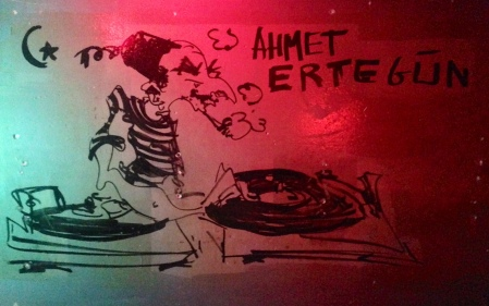 Ahmet Ertegun as graffiti at NuBlu Thanks to Will Vaultz & Cavassa Nickens
